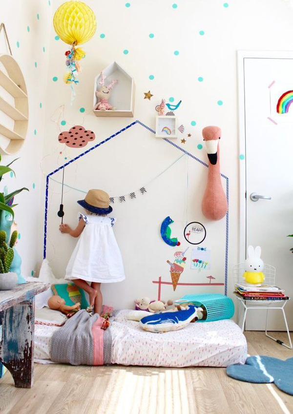 Diy Washi Tape Kids Wall Decorations Home Design And Interior