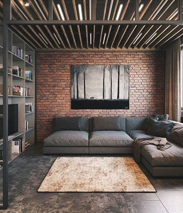 Modern Male Living Space Decoration Home Design And Interior