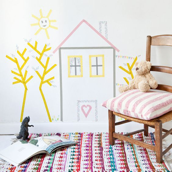 20 Cheap And Creative DIY Washi Tape For Kids Room   HomeMydesign