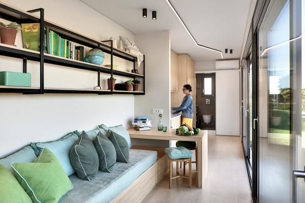 Small Container Home Interior