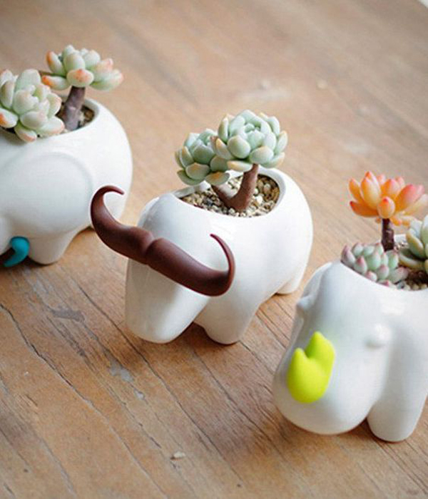 25 Cute Animal Pot Ideas For Indoor Mini Planters Home Design And Interior