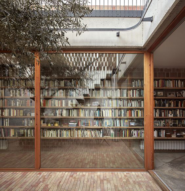 awesome nature home libraries  open concept