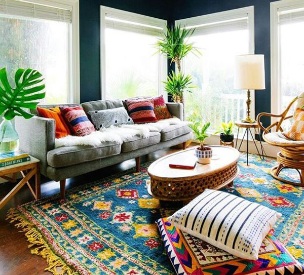 Indian Home Decor Ideas That Reflect Indian Culture: Bright-indian-living-room-ideas