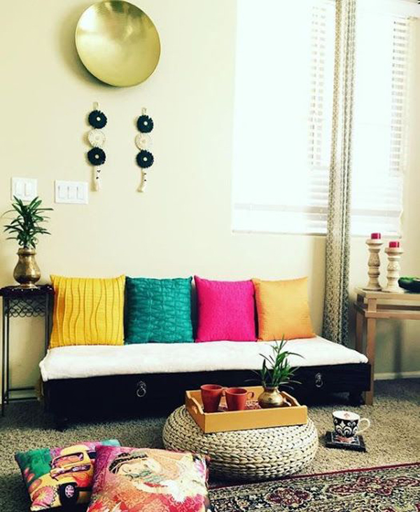 Colorful-indian-floor-seating-areas