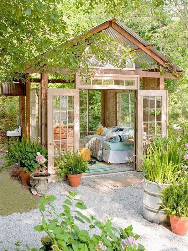 Cozy Garden Shed With Gl Window