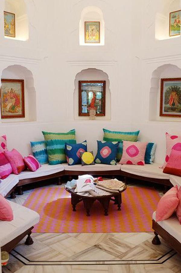 cozy-indian-living-room-design - HomeMydesign