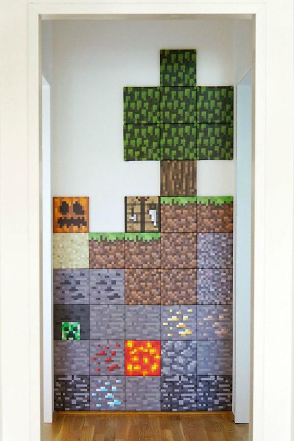 Diy Minecraft Wall Decor Home Design And Interior