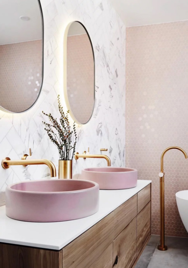 17 Millennial Pink Bathroom Styles Home Design And Interior