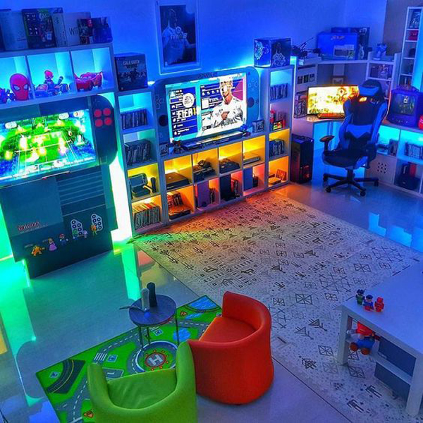 Futuristic-video-game-rooms-with-lighting-ideas
