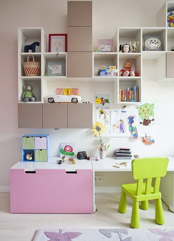 Study Room Storage: 27 Modern Kids' Study Space Ideas You Need To Copy