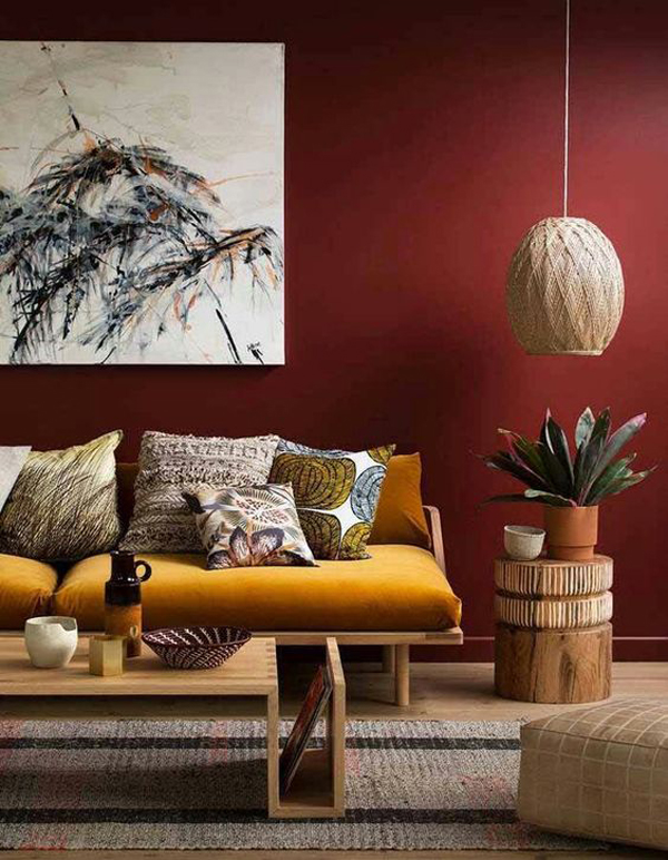 25 Terracotta Color Schemes For Your Interior Style Home Design. Inspired  By British Heritage The Terracotta Colours Give This Living Room ...