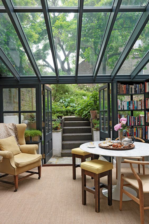 15 Amazing Home Libraries With Nature Elements | Home Design And ...