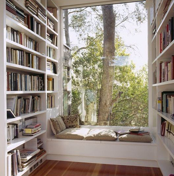 45 Design Ideas Of Amazing Home Libraries: 15 Amazing Home Libraries With Nature Elements