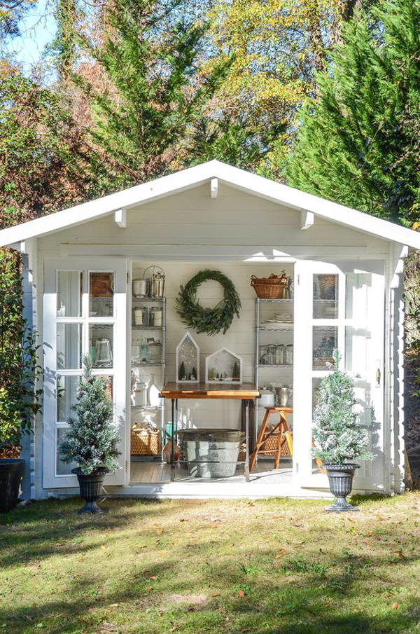 25 Cute And Inspiring Garden Shed Ideas