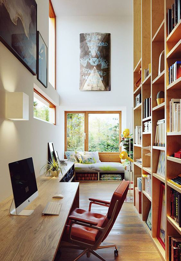 Amazing Home Libraries: 15 Amazing Home Libraries With Nature Elements