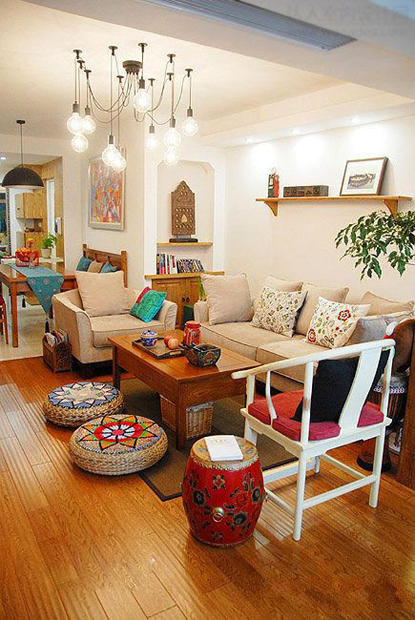 warm-and-cozy-indian-living-room-decor - HomeMydesign