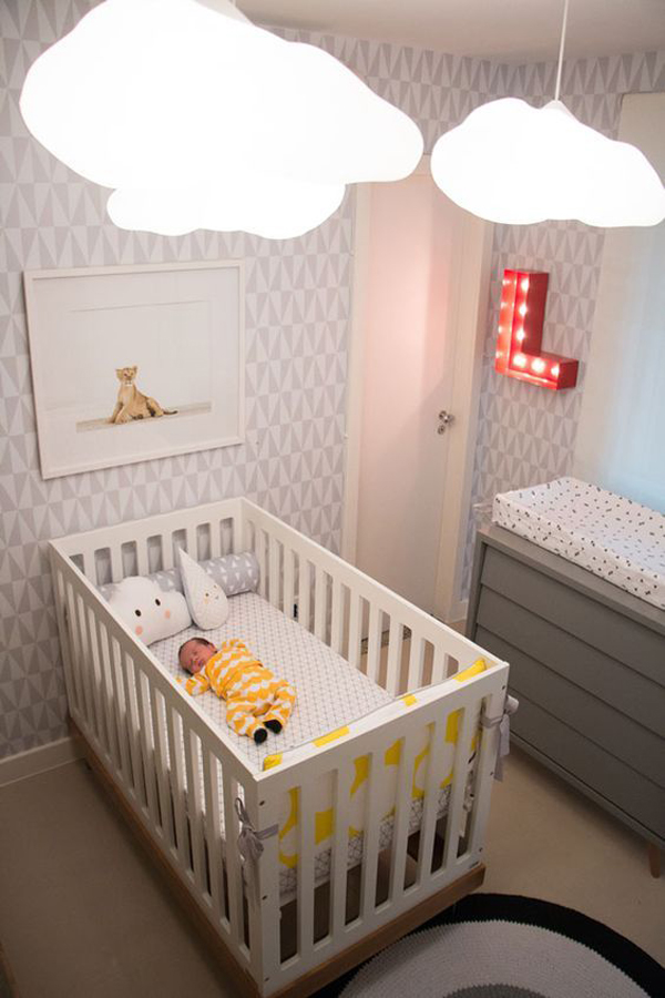 Beautiful Cloud Pendant Lamps For Nursery Home Design And