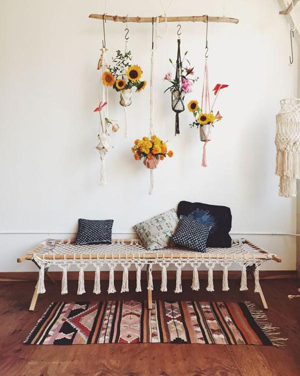 Boho Hanging Plant For Wall Art Ideas Homemydesign