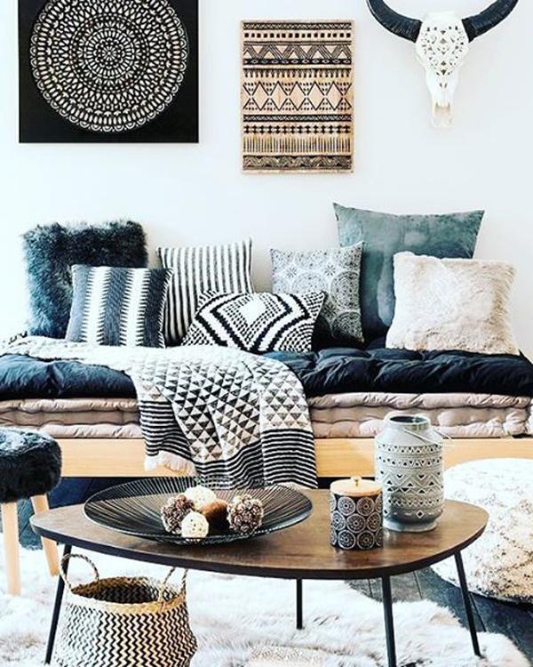 20 Artistic And Beautiful Boho Wall Art Ideas | HomeMydesign