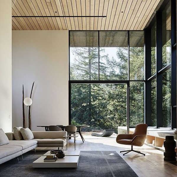 modern-living-space-with-nature-surroundings | home design and interior