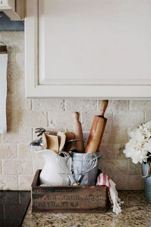rustic-diy-kitchen-countertop-organizer | Home Design And ...