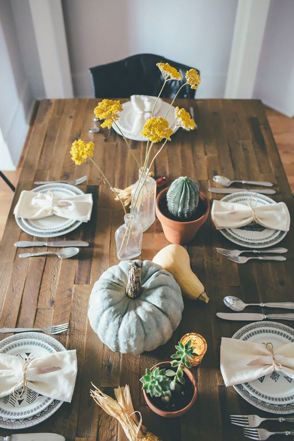 25 Nature Inspired Thanksgiving Table Settings Homemydesign