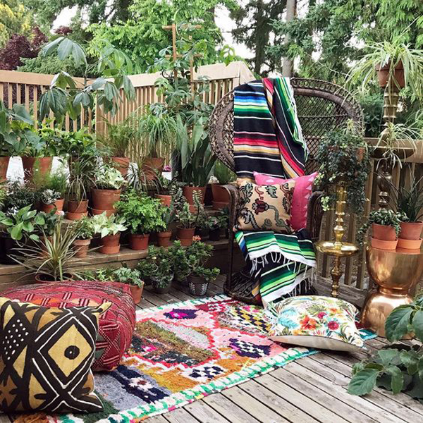 20 Eclectic Bohemian Gardens For Outdoor Decorating Ideas