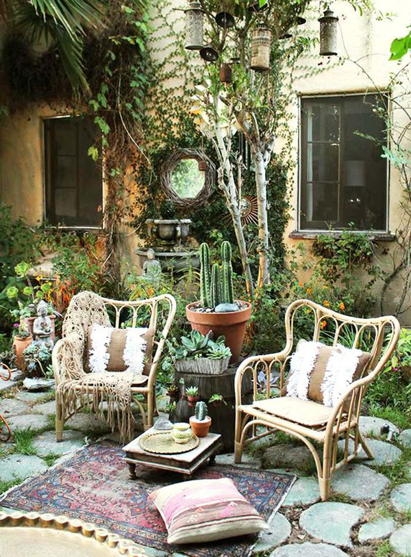 20 Eclectic Bohemian Gardens For Outdoor Decorating Ideas ... on summer backyard ideas, jucuzzi tub backyard ideas, country backyard ideas, beautiful backyard ideas, gothic backyard ideas, moroccan backyard ideas, chinese backyard ideas, creative backyard ideas, traditional backyard ideas, trendy backyard ideas, concrete backyard patio ideas, czech backyard ideas, urban backyard ideas, elegant backyard ideas, retro backyard ideas, irish backyard ideas, unique backyard ideas, greek backyard ideas, blue backyard ideas, native american backyard ideas,