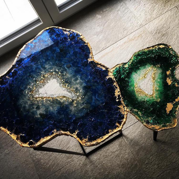 Artistic Resin Tables To Look Real Geode Slices