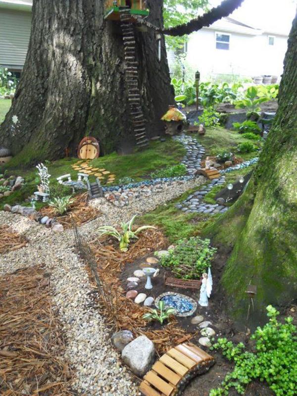 incredible-fairy-garden-for-outdoor - HomeMydesign