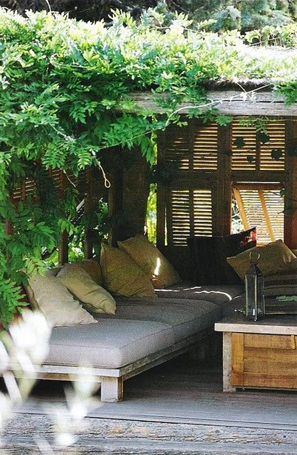 22 relaxing outdoor nap spots to your private area