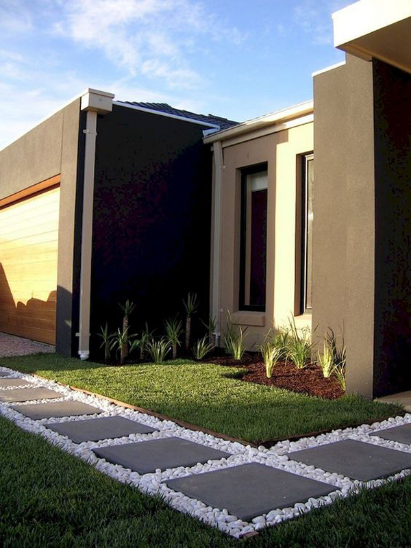 Modern And Minimalist Front Yard Landscaping Ideas Homemydesign