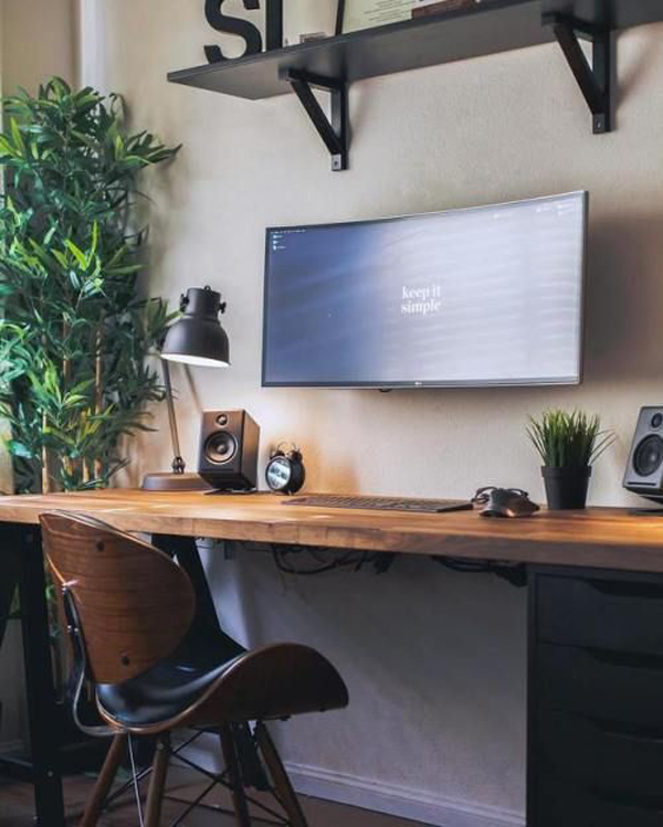 Simple Decorating Ideas To Make Your Room Look Amazing: 50 Minimalist Workspace Ideas That Make Your Room Look