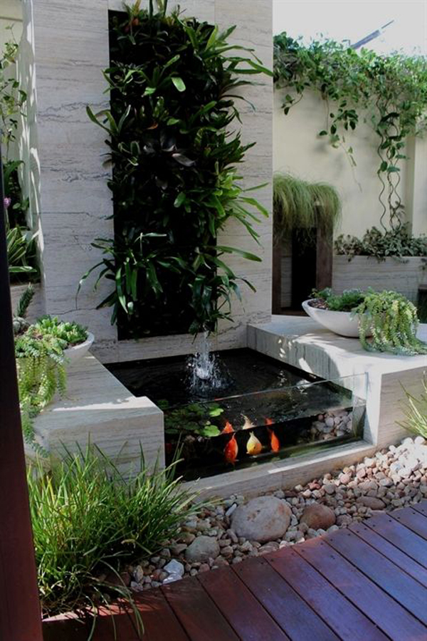 37 Small Fish Pond Ideas To Refresh Your Outdoor   Home ... on Courtyard Pond Ideas id=14962