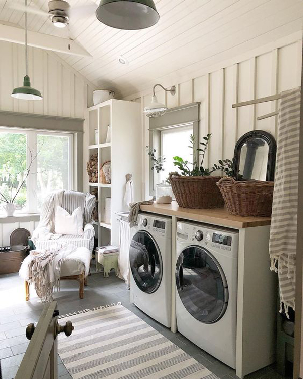 Hartland Kitchen And Laundry Room Remodel: 43 Small Farmhouse Laundry Room Ideas Look Bigger
