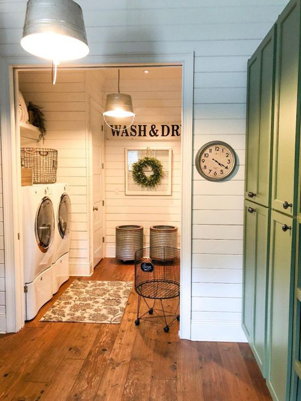 Cozy Farmhouse Laundry Room Decor Ideas Homemydesign