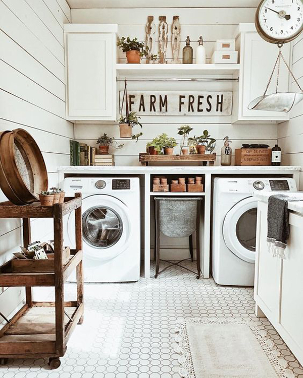 Easy Diy Farmhouse Laundry Room Decor Homemydesign