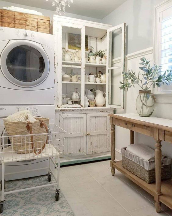 Stylish Storage Ideas For Small Bedrooms: 43 Small Farmhouse Laundry Room Ideas Look Bigger