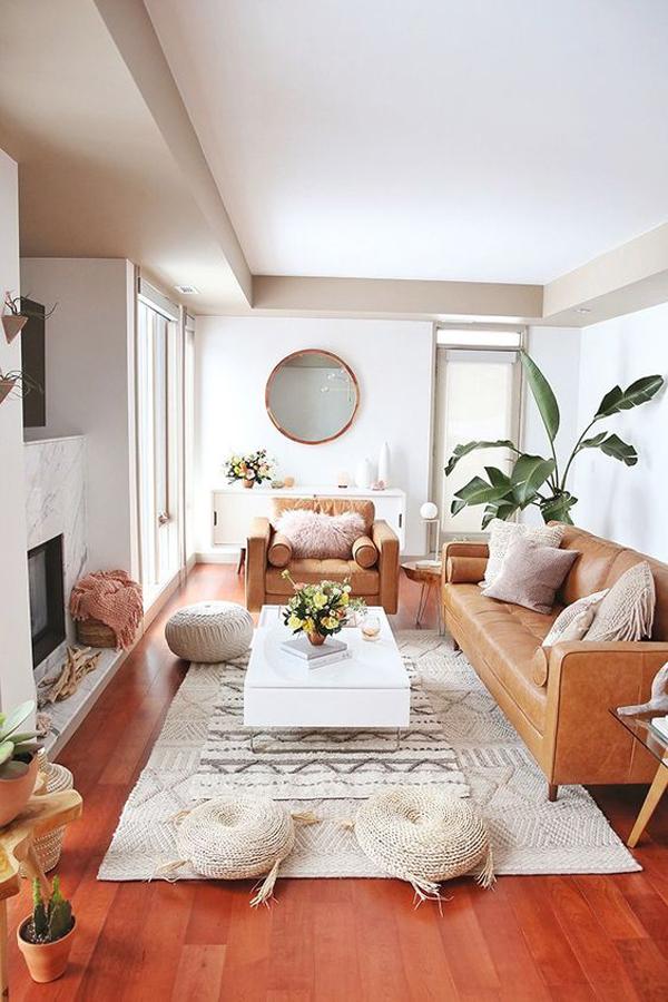 mid-century-bohemian-living-room-designs   HomeMydesign