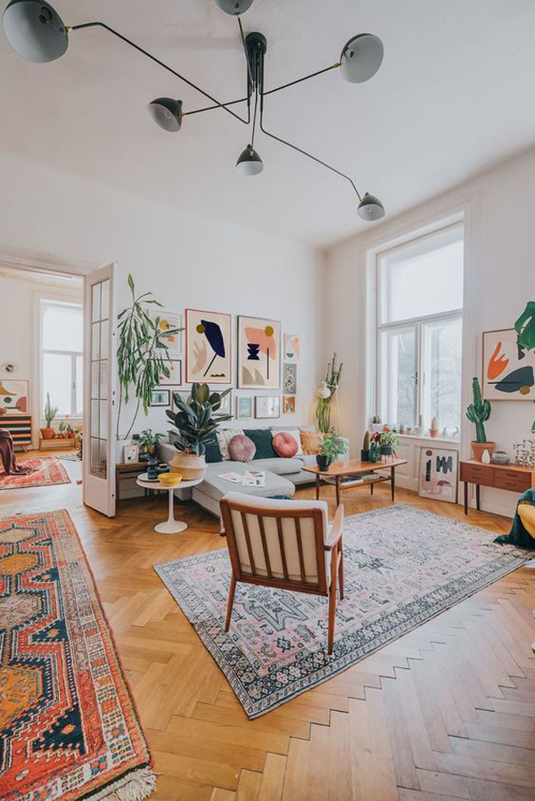 mid-century-boho-living-room-designs – HomeMydesign
