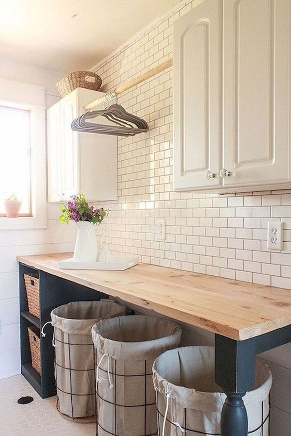 Modern Farmhouse Laundry Room Organization Ideas Homemydesign