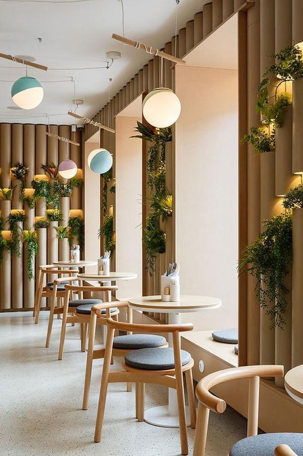 natural-coffee-shop-decor-ideas - HomeMydesign