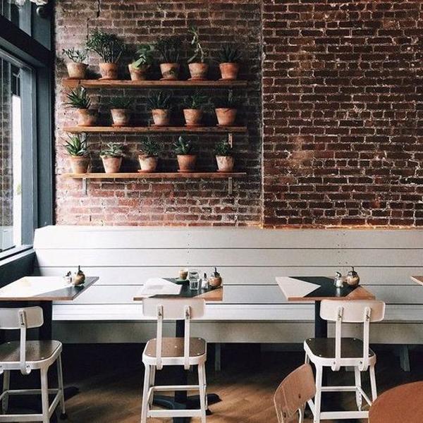 Rustic-coffee-shop-decor-with-brick-walls