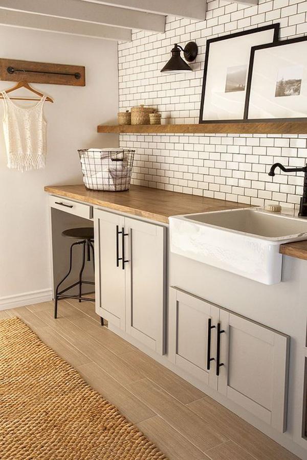 43 Small Farmhouse Laundry Room Ideas Look Bigger Homemydesign