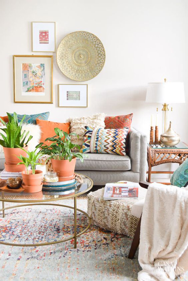 51 Bohemian Style Living Rooms You Can Try For Summer Homemydesign
