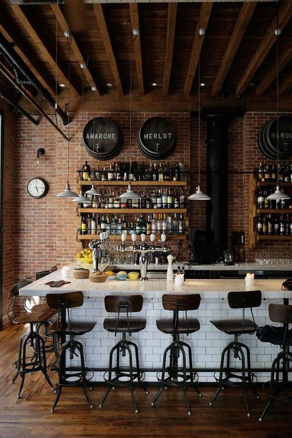 Vintage-coffee-shop-style-interior
