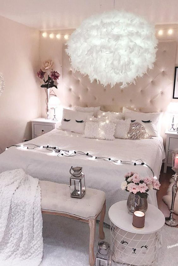 Dream Romantic Bedrooms: 48 Trendy Girls Bedroom Ideas That Dream Space Teenagers