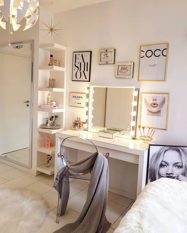 40 Feminine Makeup Room Ideas That Women Must Have Homemydesign