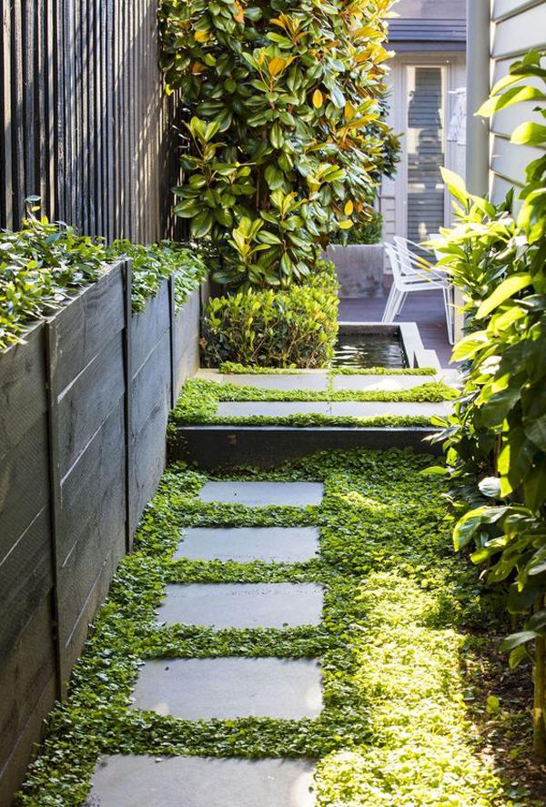 Modern Style Side House Garden Design Homemydesign