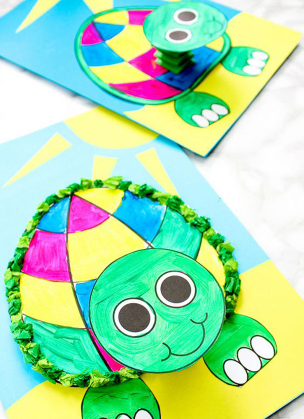 image regarding Printable 3d Paper Crafts referred to as printable-3d-turtle-paper-craft-for-youngsters Household Style and design And